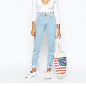 American Apparel Original mom jean high waisted